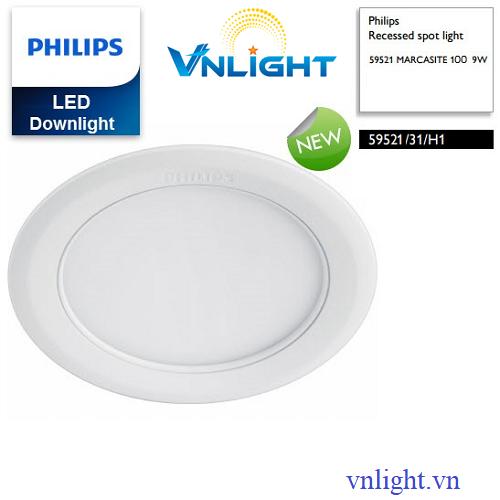 Đèn led âm trần 9W 59521 Philips